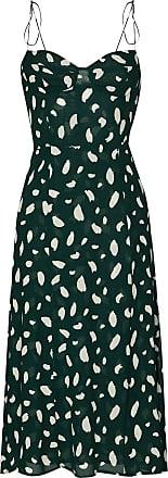 Reformation Vestido midi com estampa Juliette - Verde