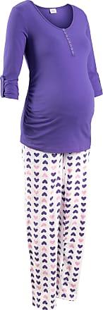 5cc50118ce3afa bpc Bonprix Collection Still-Pyjama Bio-Baumwolle 3/4 Arm in lila von