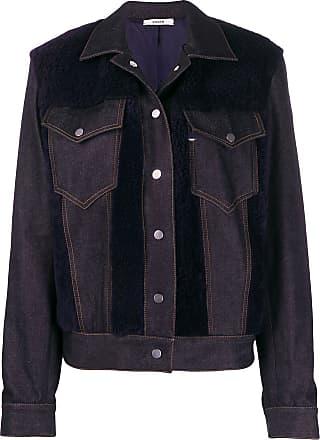 Zilver shearling panel denim jacket - Blue