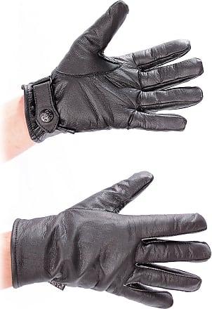 Mil-Tec German Army Style Black Leather Gloves (Medium)