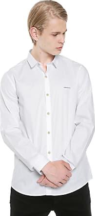 Calvin Klein Jeans Camisa Calvin Klein Jeans Slim Estampada Branca