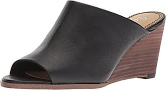 Splendid Womens Fenwick Wedge Sandal, Black, 6.5 Medium US