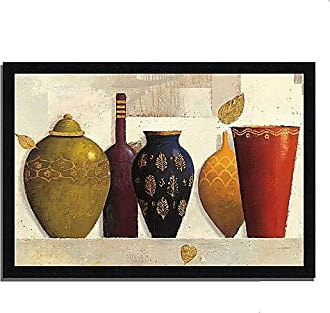 Tangletown Fine Art Jeweled Vessels by James Wiens Framed Art Black, White