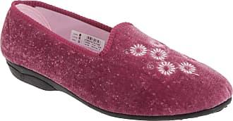 Zedzzz New Womens Ladies Luxury Comfort Velour Full Slippers Heather 6 UK