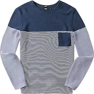 92eff51c42 HUGO BOSS Herren Pullover, Slim Fit, Baumwolle, marineblau-weiß gestreift