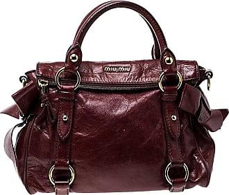 aac433738aa Miu Miu Miu Miu Red Vitello Lux Leather Bow Top Handle Bag