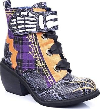 Irregular Choice Womens Quick Run Ankle Boots, Purple (Purple/Orange A), 7.5 (41 EU)
