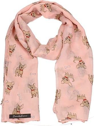 Swankyswans Super Cute Chihuahua Small Dog Animal Print Womens Warm Winter Shawl Scarf Pink