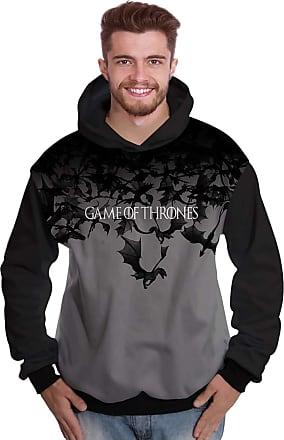 Di Nuevo Blusa de Moletom Dragões Daenerys Game of Thrones GOT