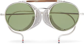 65af03c17e0dab Thom Browne Round-frame Metal Sunglasses - Silver