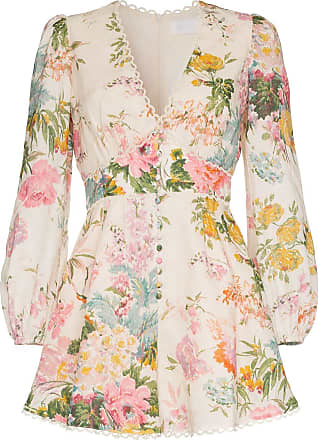 87b4b390b12 Zimmermann Heathers floral print playsuit - Neutrals