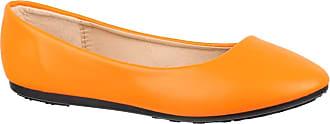 Elara Damen Ballerina Bequeme Slip-Ons Flach chunkyrayan DY-07-Orange-39
