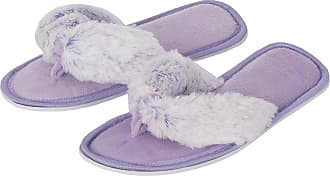 Forever Dreaming Womens Open Toe Memory Foam Faux Fur Indoor Flip Flop Thong Slippers 3-Pack 3