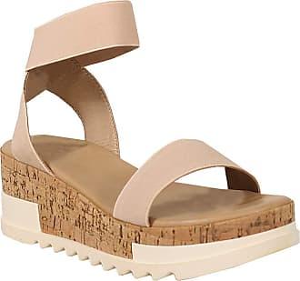 Yoki Womens BRENDA-10 Flat Sandal, Denim, 5.5 UK