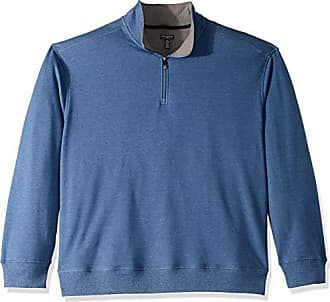 Van Heusen Mens Big and Tall Flex Fleece Long Sleeve Quarter Zip, blue thunder, 2X-Large Big