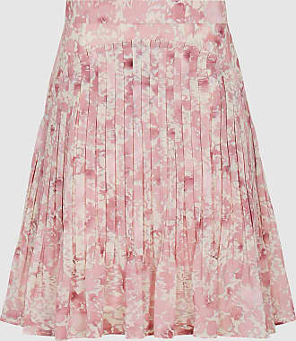 Reiss Orielle - Floral Printed Mini Skirt in Pink Print, Womens, Size 12