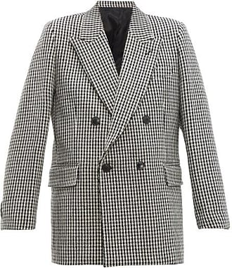 Ami Ami - Houndstooth Double-breasted Wool Blazer - Womens - Black White