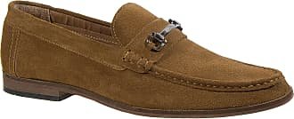 Roamers Mens Slip On Shoes Sand Brown Leather Suede Casual (Numeric_11)
