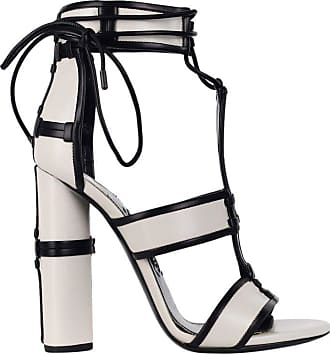 e663cabad0d Tom Ford Womens White Paneled Leather Patchwork Sandals Pumps
