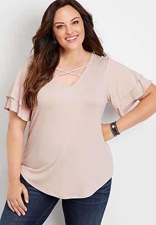 4170eb1448302 ... Blocked Sleeve Thermal Baseball Tee. Delivery: free. Maurices Plus Size  - 24/7 Solid Strappy Neck Tee