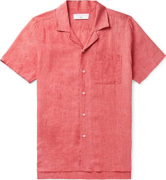 Orlebar Brown + 007 Thunderball Camp-collar Linen Shirt - Red