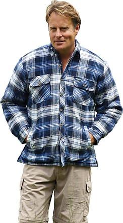 Champion Mens Champion Skye Sherpa Fleece Lined Checked Thermal Work Winter Shirt (Blue) 3XL