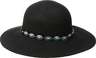 e5289216 San Diego Hat Company Womens Round Crown Floppy with Faux Silver and  Turquoise Band, Black