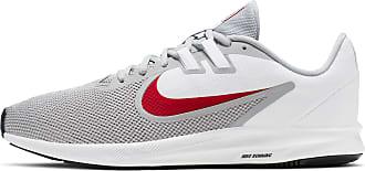 Nike Downshifter 9 Laufschuhe Herren in wolf grey-university red-white-black, Größe 44 1/2