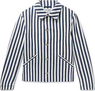 Loewe Striped Cotton Jacket - White