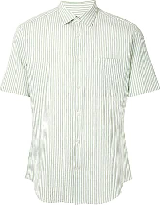 Durban striped short-sleeved shirt - Verde