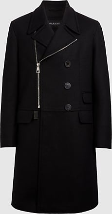 Neil Barrett Travel Zipped Double Breasted Fine Doubleface Wool Coat
