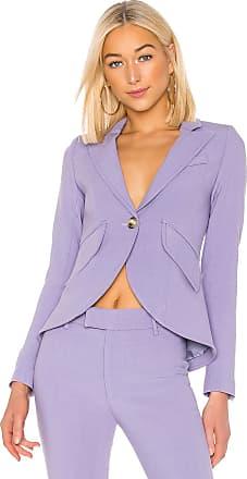 Smythe One Button Blazer in Lavender