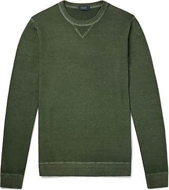 Incotex Garment-dyed Virgin Wool Sweater - Green