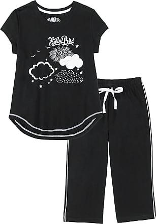 Bonprix Dam Pyjamas med capribyxor i svart kort ärm - bpc collection 09693d0a500e9