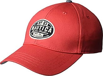 Nautica Mens Twill Adjustable Baseball Cap Hat, Rose Coral, One Size