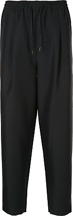 Yoshiokubo tuck trousers - Black