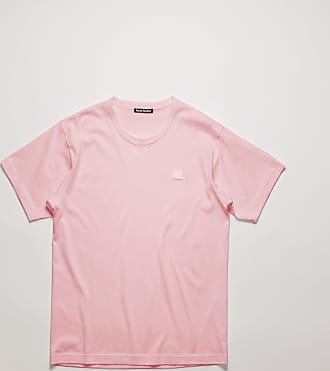 Acne Studios Nash Face Blush pink Classic fit t-shirt