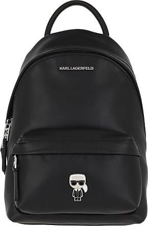 Karl Lagerfeld Ikonik Metal Pin Backpack Black Rucksack schwarz