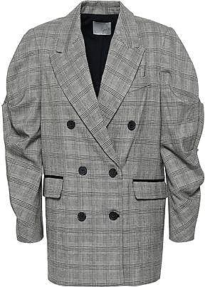 Joie Joie Woman Tomika Double-breasted Prince Of Wales Checked Jacquard Jacket Gray Size 00
