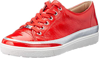 Caprice Womens Manou Low-Top Sneakers, Red (Chili Naplack 555), 7.5 UK
