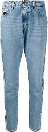 John Richmond Calça jeans cenoura com aplicação - Azul
