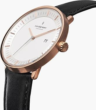 Nordgreen Philosopher - Rose Gold | Black Leather - 36mm / Rose Gold