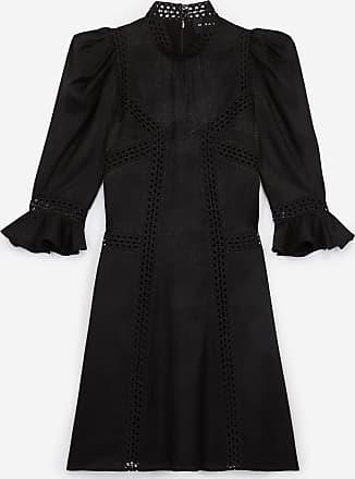The Kooples Black short formal dress with high neck - WOMEN