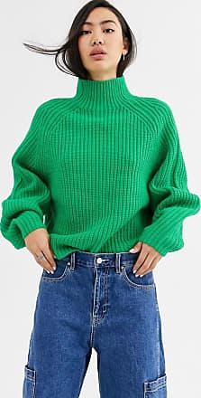 Weekday Angel - Grüner Pullover mit Stehkragen