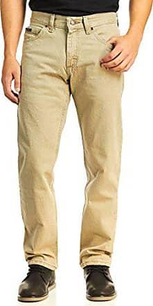 Lee Mens Regular Fit Straight Leg Jean, Wheat, 35W x 32L