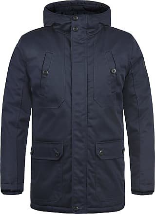 Solid Walli Mens Parka Outdoor Jacket Winter Coat with Hood, Size:XL, Colour:Insignia Blue (1991)