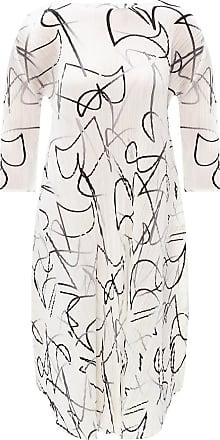 Issey Miyake Pleaed Dress Womens White