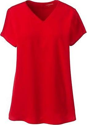 Lands End Shirt mit V-Ausschnitt in Petite-Größe - Rot - 32-34 von Lands End