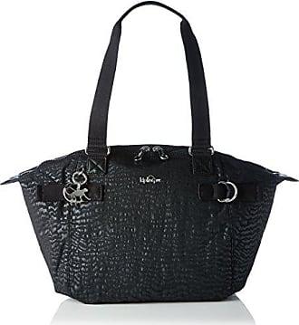 6e181162c Kipling Elaine, Bolsos de mano Mujer, Black (Black Garden), 47x29x17 cm