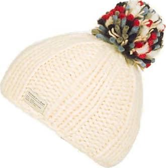 KuSan 100% Wool Bobble Beanie Hat PK1524 (White)
